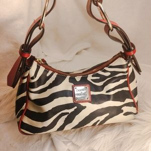 Authentic zebra Dooney & Bourke purse handbag